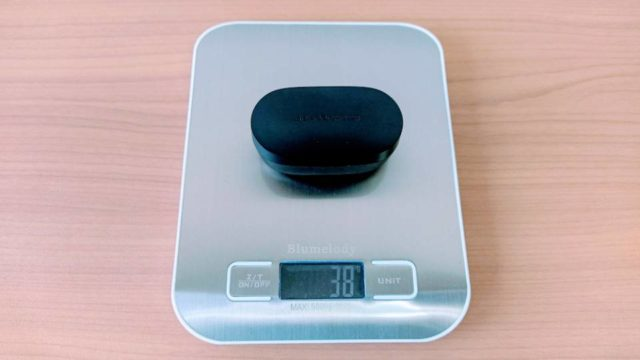 SoundPEATS「TrueFree 2」の充電ケース重量