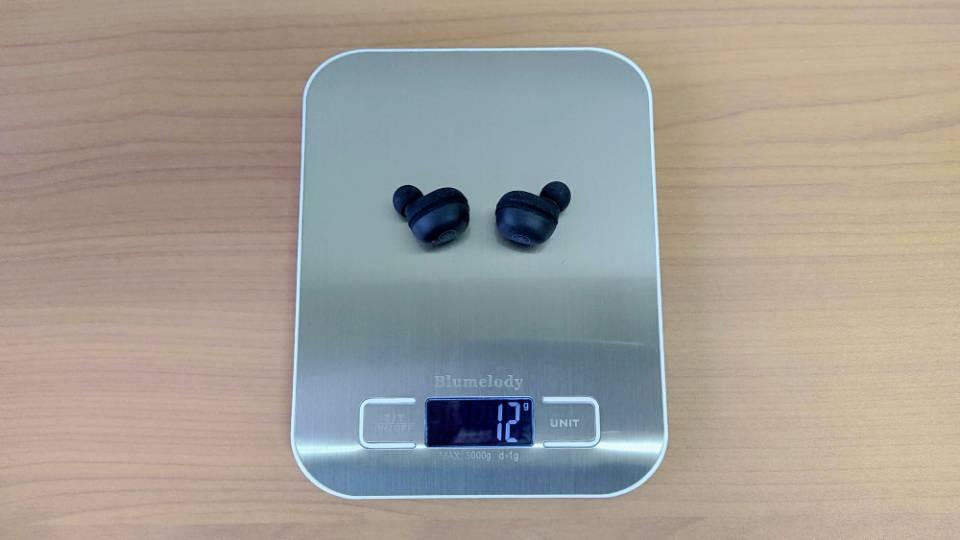 ヤマハ「TW-E3A」のイヤホン重量