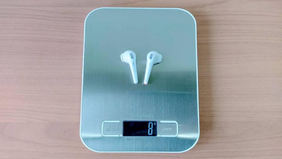 1MORE「ComfoBuds」の本体重量