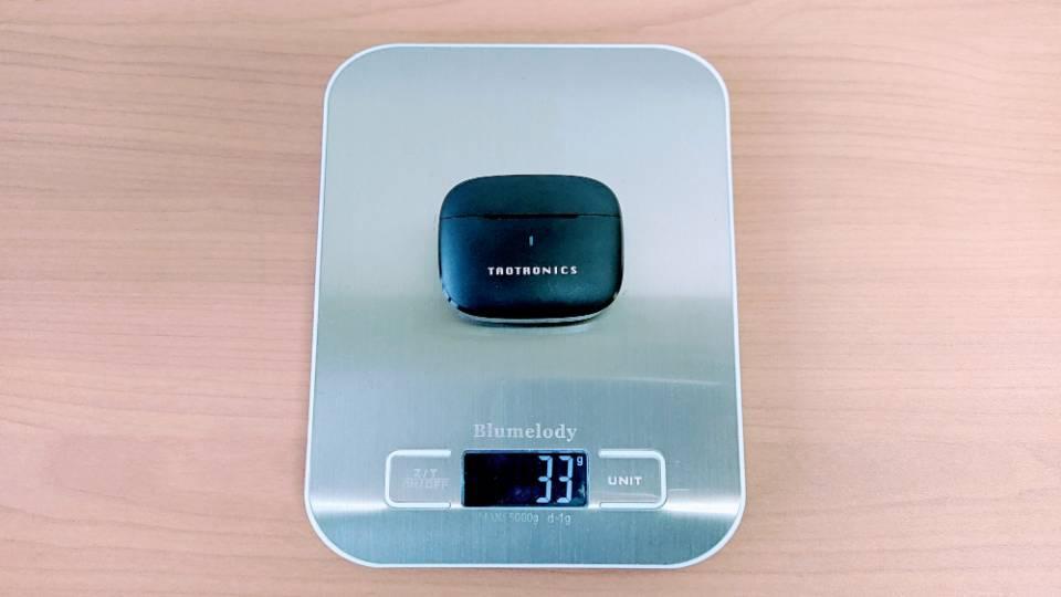 TaoTronics「SoundLiberty 97」の充電ケース重量
