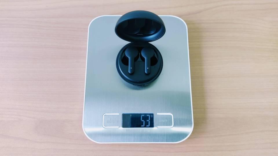 Tribit「FlyBuds NC」の本体+充電ケース重量