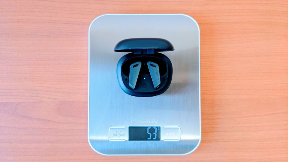 「EarFun Air Pro」のイヤホン+充電ケース重量